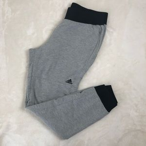 Adidas gray jogger sweat pants size medium